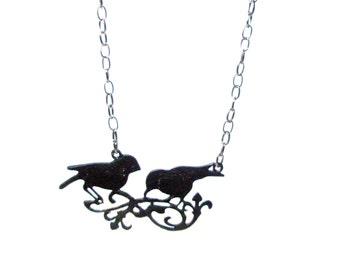 Birds On Branch Necklace Gift For Her Under 20  Free Shipping  Worldwide