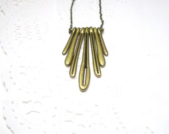 Drips Brass Necklace  - Gift for her under 30  Free gift
