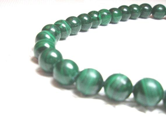 Malachite Necklace Unique Vintage Natural