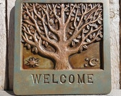 Tree of Life Welcome Sign in Brown, Verdigris and Copper