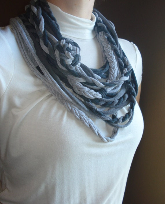 Shades of Grey- cotton jersey scarf