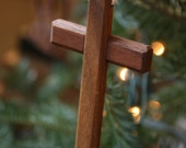 Wooden Cross made from Solid Walnut