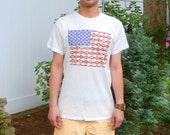 4th of July Fourth Independece Day Mens Tee Tshirt American Flag United States America Vintage American Native Indian USA Americana Medium