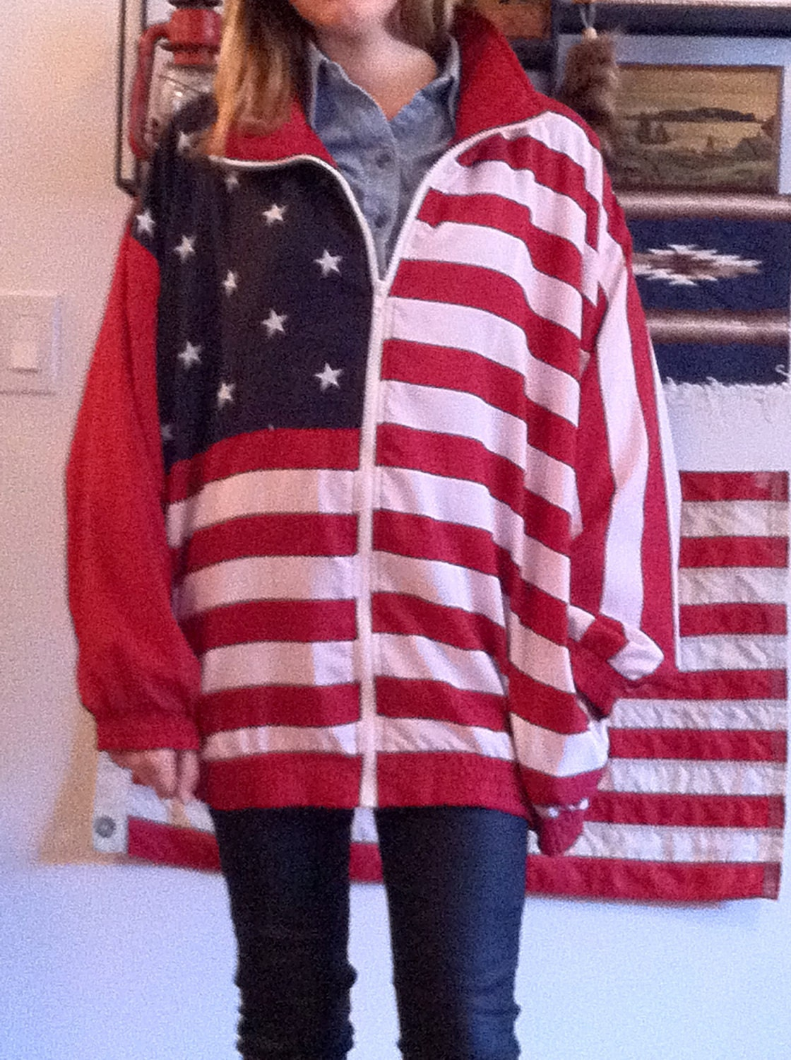 American Flag Jacket Usa United States Coat Mens Womans Stars