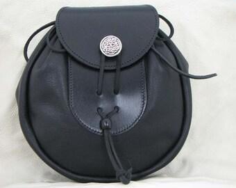 Leather Sporran - Black
