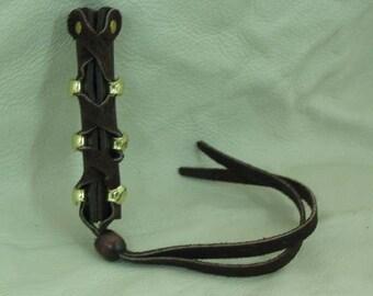 Medium Brown Leather Hair Tie / Wrap