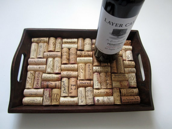 A Wooden Wine Cork Tray