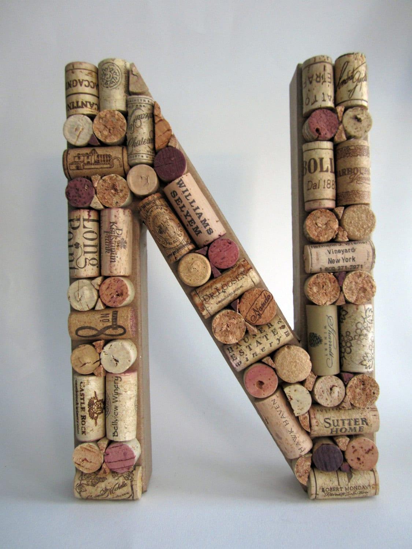 Custom Wine Cork Letter by corkandcompany on Etsy