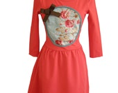 Ideal DIFERENCIA Spring- Summer coral dress