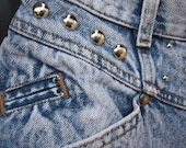 III Acid Wash Studded Vintage Levis Denim Cut Off Shorts III