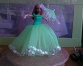 New Handmade  BARBIE DOLL CLOTHES  Royal Wedding inspired designed and made by nannycheryl  771   (10)