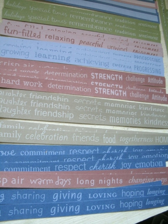 cardstock strips layered phrase borders scrap booking die cut supply 42 pieces