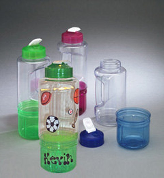Water Bottle w/ Snack Container
