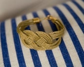 Gold Fisherman's Knot Bracelet