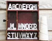 Vintage Aluminum Alphabet Collection