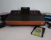 """Atari 2600 """"Woody"""" Console Ready to Play with 14 Games in Working Condition"""
