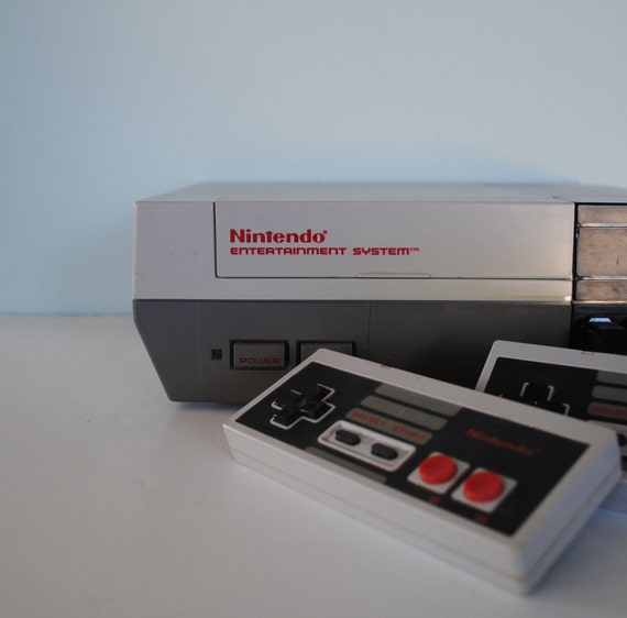 Nintendo Entertainment System (NES) Console with 5 Games