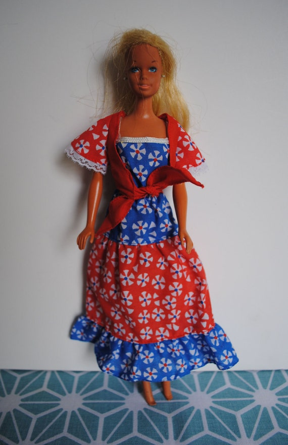 Vintage Barbie Red White and Blue Outfit circa mid 1970s