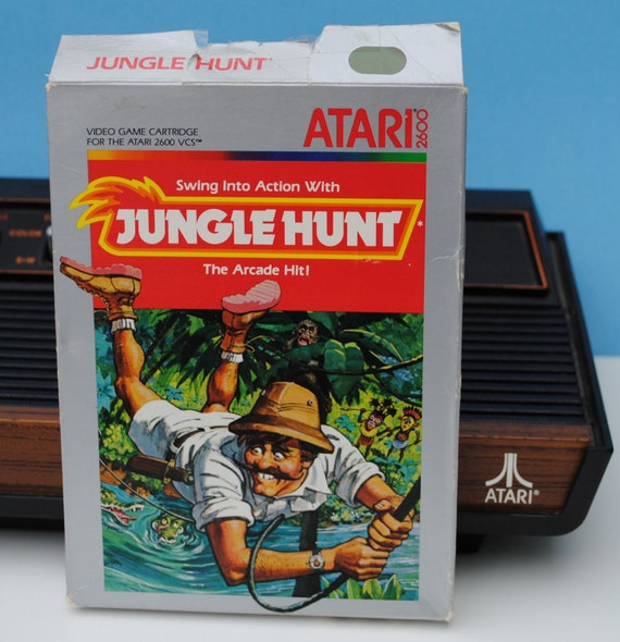 Jungle Hunt Atari 2600 Game Cartridge, Manual, and Original Box