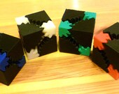 Gear Cube, Black and (your choice of color)