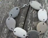 Natural Black and Grey Stone Bracelet