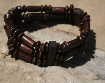 Wood Bead Bracelet Free Ship USA