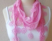 Pink Scarf,Very Trendy Scarf,Best 2012 Trends,The Latest Fashion,High Fashion,