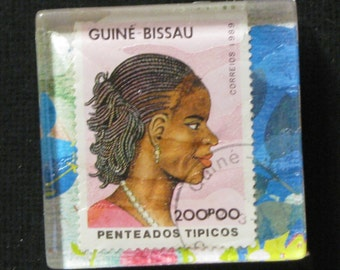 Hand Made African Girl Magnet