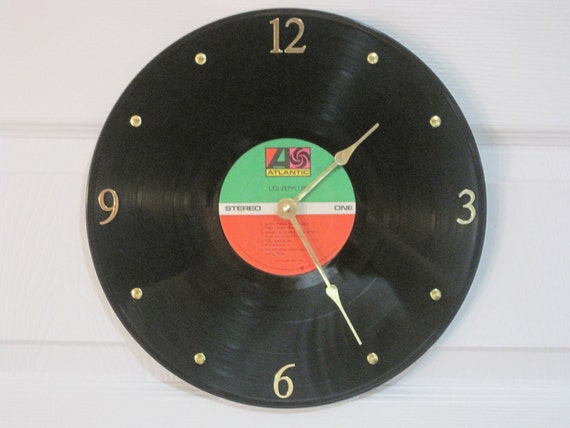 Led Zeppelin Vinyl record album clock. - Dazed and Confused - Upcycled