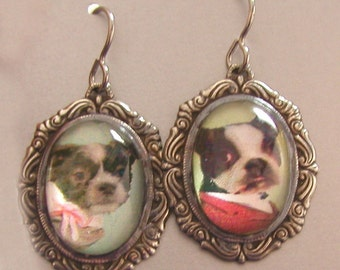 CUSTOM Personalized  Cat and Dog Earrings