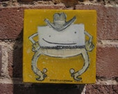 Marshmallow Cowboy Painting
