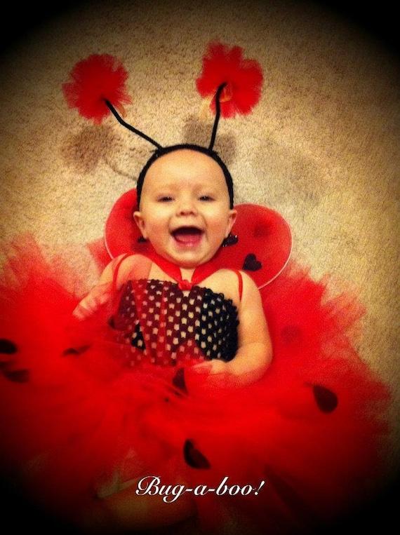 Lady Bug Costume, Birthday outfit, Halloween Costume, ladybug