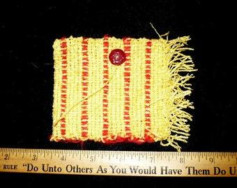 Yellow and orange handwoven  sleeve
