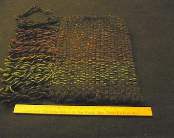Black and varicolored tablet or ipad sleeve
