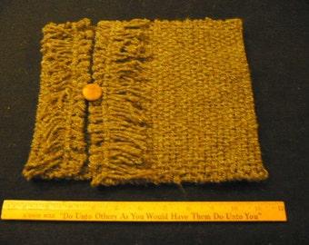 Brown tweedy tablet sleeve