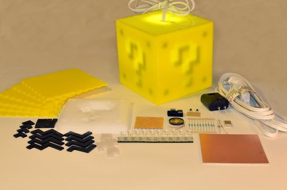 Interactive 8-bit Question Block Lamp KIT