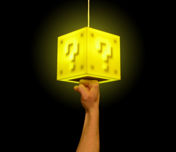 Interactive 8-bit Question Block Lamp