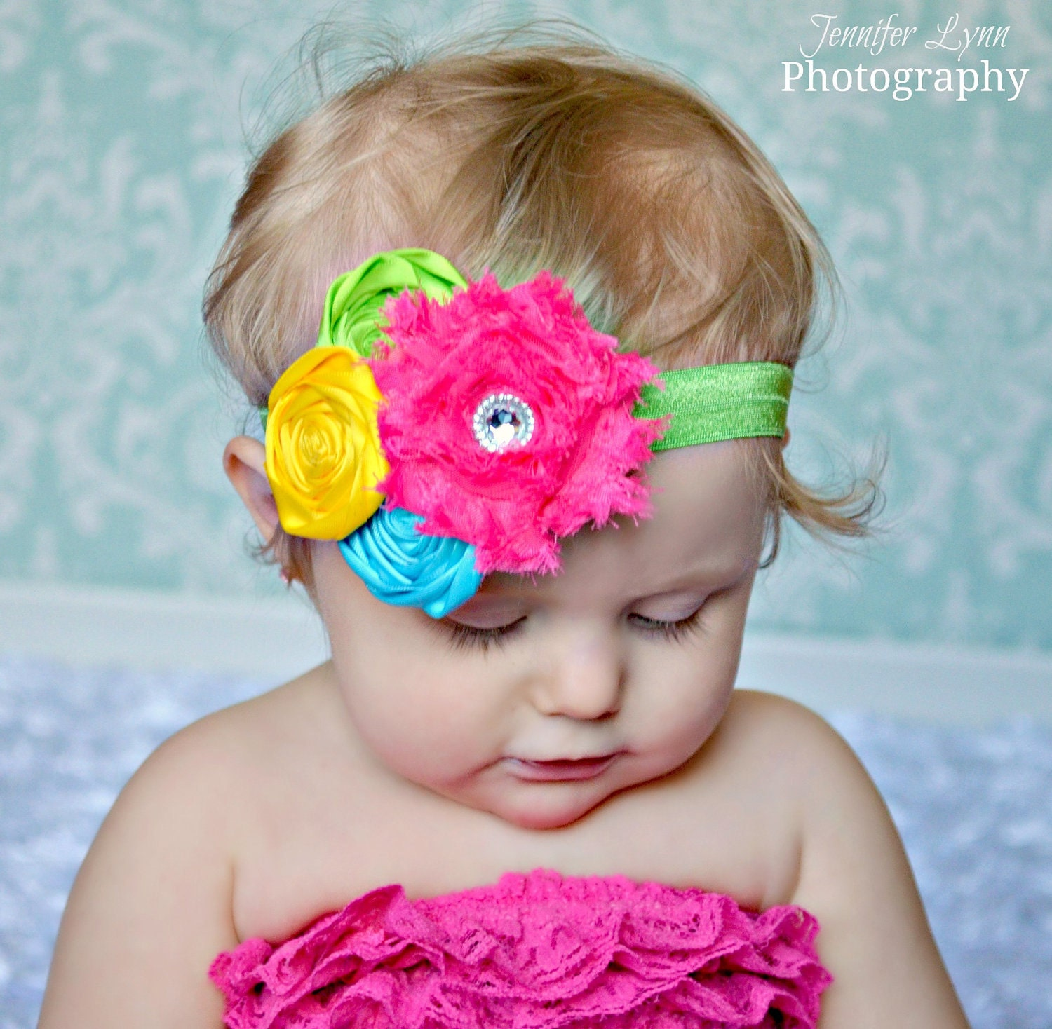 Flower Headbands Baby Girl Headbands Summer by spoiledNsweet