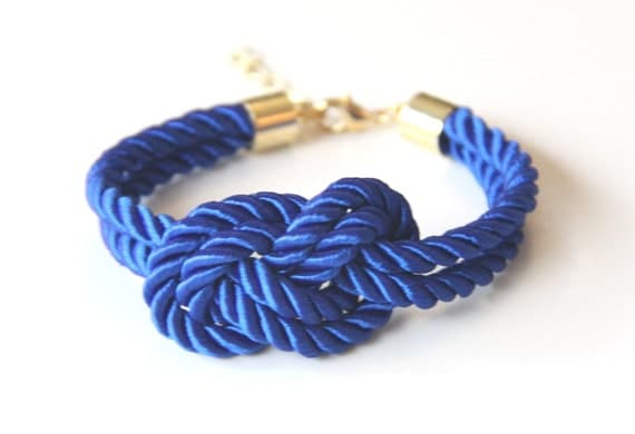 Arm Candy - True Blue silk Knot Bracelet - raided Bracelet Set, Festival Accessories, Knotted Jewelry, Bracelet Stack