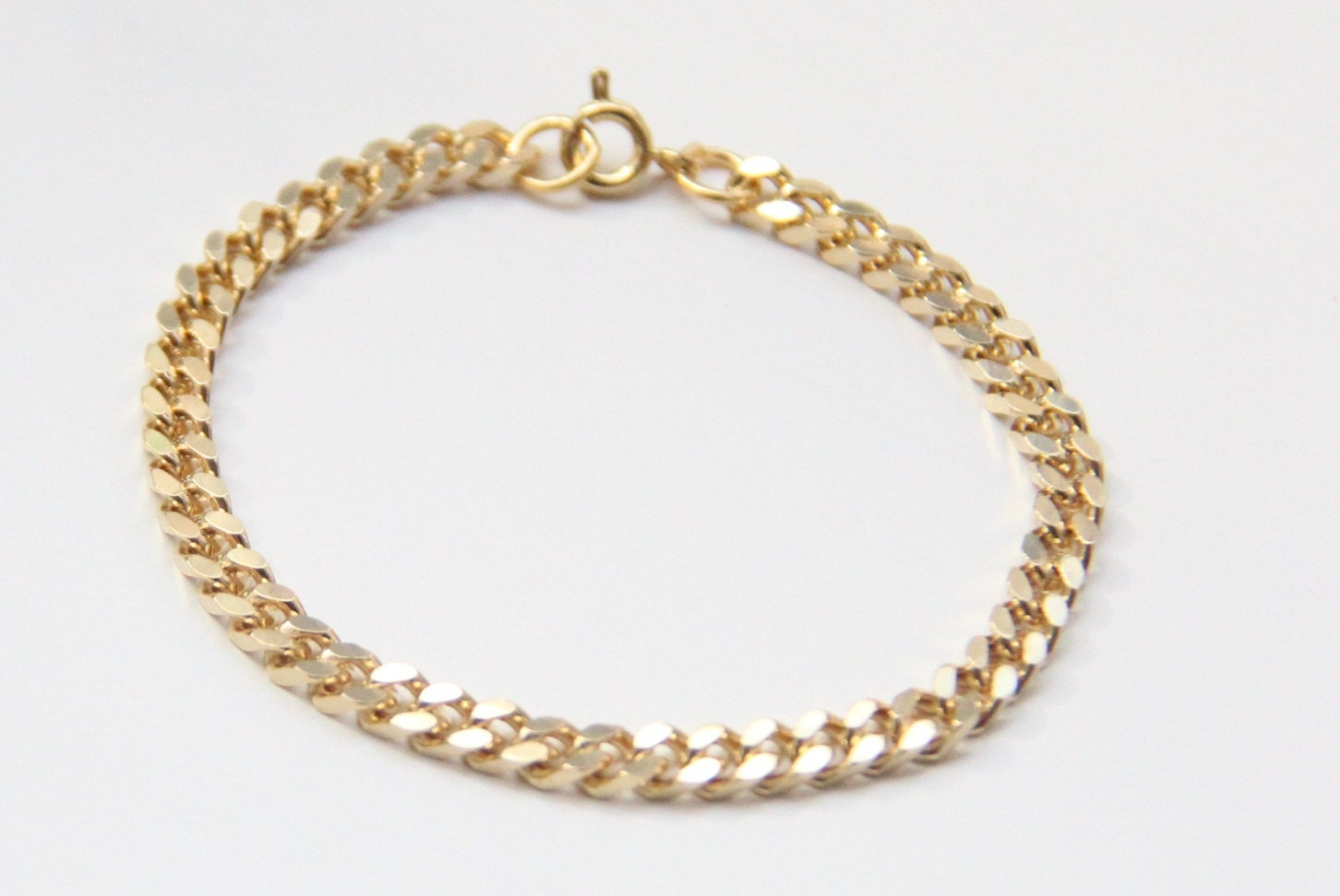 mini gold chunky chain bracelet 24k gold plated by brinkle