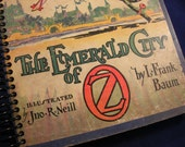 Wicked Wizard of Oz vintage book upcycled into book journal