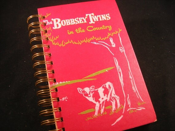 Bobbsey Twins vintage book crafted into blank journal