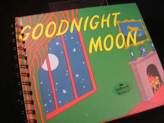 Goodnight Moon children's classic book upcycled into blank journal