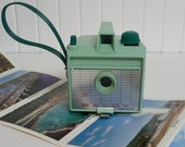 1960s Mint Green Imperial Savoy Bakelite Box Camera - Vintage Travel Trailer Decor