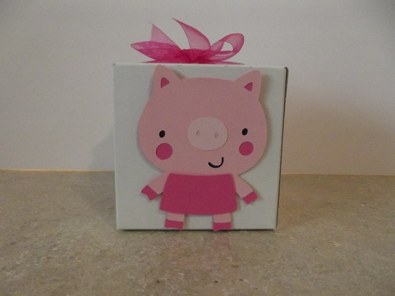 Pig Party Favor Box (Set of 8)