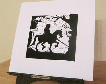 St George - Silhouette Print