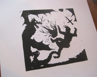 The Dragon wounds St George - Silhouette Print