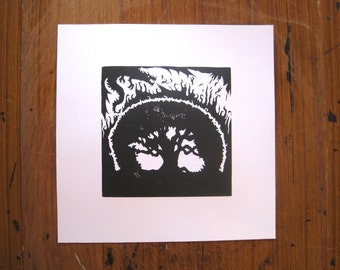 The Dragon and the Enchanted Orange Tree - Silhouette Print