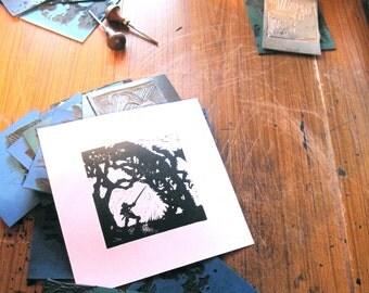 St George Prepares to Strike - Silhouette Print