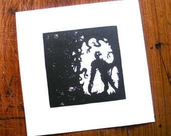 Grendel in His Pit - Silhouette Print
